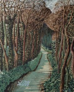 Turn Right at the Top - Simon Palmer - Portland Gallery Landscape Art, Landscape Paintings, Tree Paintings, Abstract Paintings, Top Art Schools, Leave Art, Crafts For 2 Year Olds, Art Advisor, Art Archive