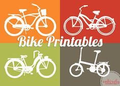 A Little Tipsy: Ride Into Spring: Free Bike Printable