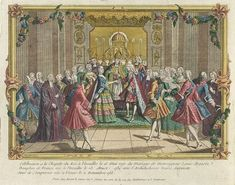 After a formal dinner and the blessing of their bed by the Archbishop of Reims, Marie Antoinette and Louis-Auguste were escorted to their bedroom.  Louis and Antoinette were not to consummate their marriage for several long years.   Louis XVI was the first French king in two hundred years not to have a royal mistress.