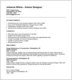 Creative Arts And Graphic Design Resume Examples Designer Templates  Interior Template