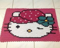 😸 Hello Kitty Cobertor Curva  Padrão de Contas, eu posso fazer isso Crochê Pontos de Cruz também.  /  😸 Hello Kitty Blanket Standard Ccounts Curve, I can do this Crochet Cross Points too.