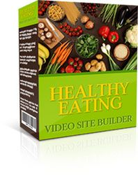 Healthy Eating Video Site Builder  Instantly Create Your Own Complete Moneymaking Video Site Featuring Adsense and Amazon Ads, Unique Web Pages, SEO Solutions and Much More ... Built Automatically in 2 Minutes Flat! August 2014 FREE Members Download Learn more: http://weurls.com/plr