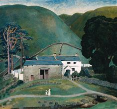 Farm at Watendlath 1921, Dora de Houghton Carrington (British, 29 March 1893 – 11 March 1932) - I like the tranquil air of this painting