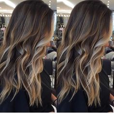 Are you looking for best hair colors to apply for long hair? Just see here, we have made a collection of fantastic long balayage colored hairstyles Curly Hair Cuts, Short Hair Cuts, Curly Hair Styles, Balayage Hair, Ombre Hair, Bayalage, Girls Short Haircuts, Curly Wedding Hair, Glamorous Hair