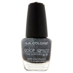 L.A. Colors Color Craze NP472 Black Pearl Nail Polish, 0.44 fl oz