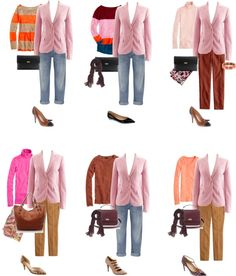 """More Styling Ideas for J.Crew Schoolboy Herringbone Blazer in Romance Pink"" by abiggercloset ❤ liked on Polyvore"