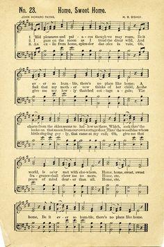 antique sheet music | FREE Vintage Music Sheet ~ Home Sweet Home | Old Design Shop Blog