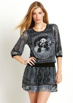CUTE PANDA DRESS, NEVER SEEN ANYTHING LIKE THIS. ideeli | vivienne tam sale