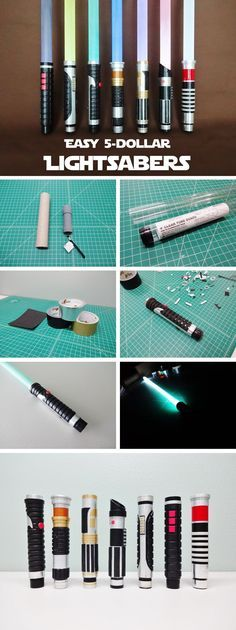 Make some awesome Lightsabers for about $5 each!I recently made a bunch of homemade Lightsabers for my kids and me to play with and use for Halloween costumes. Cosplay Tutorial, Cosplay Diy, Anime Cosplay, Star Wars Birthday, Star Wars Party, Diy Sabre Laser, Costume Star Wars, Diy Lightsaber, Lightsaber For Sale