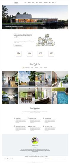 D'leh is clean and modern #design multipurpose PSD template for creative #architect website with 6 homepage layouts and 35 layered PSD pages download now #webdesign