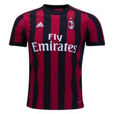 5f6f5d035a6 This AC Milan Home Football Shirt 2017 2018 is what AC Milan will wear this  season. AC Milan are one of the most popular recognisable clubs in the  world.