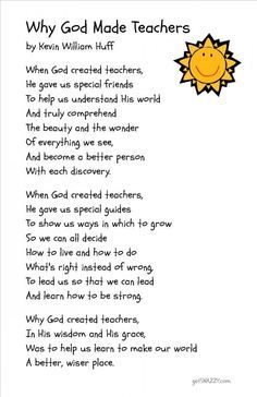 thank you poems for kindergarten teachers - Google Search