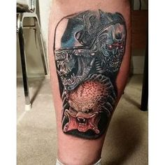 #scifitattoo Predator Tattoo, Alien Tattoo, Alien Vs Predator, Aliens, Pop Culture, Skull, Tattoos, Image, Predator