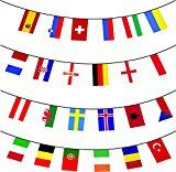 MEGA VALUE All 24 x Participating Nations Premium Quality Bunting Flags For The Euro 2016 Football Championships Huge 10m Multi Nation Party Decoration Banner by My Planet   19 days in the top 100  (4)Buy new:   £8.99 6 used & new from £6.49(Visit the Bestsellers in Toys & Games list for authoritative information on this product's current rank.) Amazon.co.uk: Bestsellers in Toys & Games...