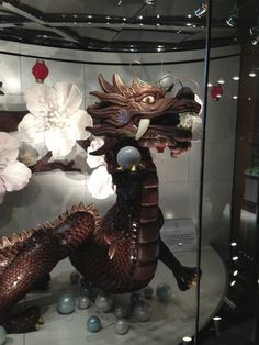 A giant edible chocolate dragon at The Aria in Las Vegas 2012