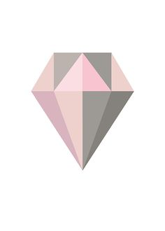 Plakat mit rosa Diamanten.