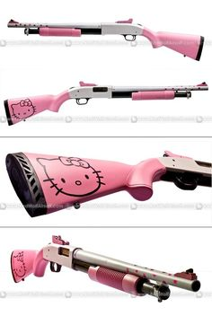 Hello Kitty Pump Action Short Barrel Shotgun. Glitter shotgun shells sold separately.