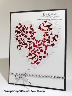 Stampin\' Up! Bloomin\' Love Bundle - It\'s a WOW - with the How To Video, Gorgeous Valentines, Clean and Simple, DIY Greeting Cards, Kay Kalthoff, #stampingtoshare