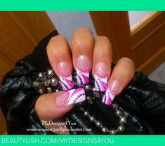 abstract nail designs | Abstract Pink and Purple Nails | Liudmila Z.'s (MyDesigns4You) Photo ...