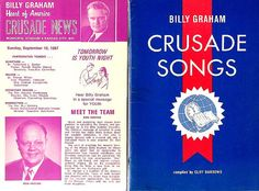 Vintage 1960's Billy Graham Crusade Songs Book by aestexas on Etsy, $5.00