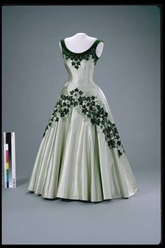 """Maple Leaf of Canada"" dress worn by Queen Elizabeth II, 1957 England (worn in Canada), Canadian Museum of Civilization"