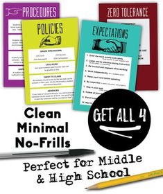 STUDENT EXPECTATIONS - Editable Posters and Powerpoint Pre