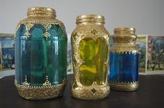 DIY Spaghetti Sauce Jar Moroccan Lanterns - total KITSCH but I love them