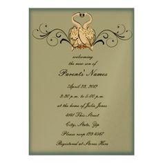 Love Swans Baby Shower Invitation
