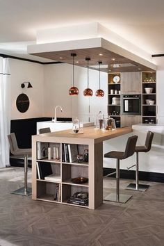 Interior Home Design Trends For 2020 - New ideas Open Plan Kitchen Living Room, Home Decor Kitchen, Interior Design Kitchen, Home Kitchens, Open Kitchen, Küchen Design, House Design, Design Desk, Kitchen Remodel