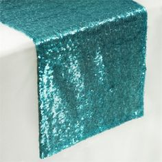 Turquoise Glitz Sequin Table Runners x for Wedding Party Banquet - Theon Kim Wedding Catering Prices, Party Catering, Catering Display, Catering Ideas, Banquet, Turquoise Table, Wedding Reception Backdrop, Wedding Table, Burlap Table Runners