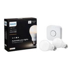 Philips Hue White A19 60W Equivalent Starter Smart Kit-455287 - The Home Depot