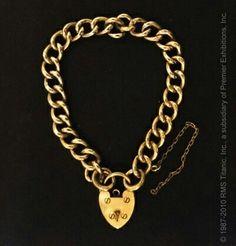 *TITANIC ~ This heart-shaped padlock bracelet was salvaged from the R. Rms Titanic, Titanic Wreck, Titanic History, Bracelet Clasps, Link Bracelets, Heart Bracelet, Belfast, Southampton, Belle Epoque