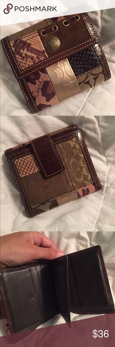 Coach wallet Super cute authentic coach wallet hardly used very minor signs of wear Coach Bags Wallets
