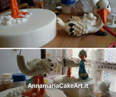 Eccomi al lavoro!...Ho ripreso a fare il Cake Topper con cicogna per il battesimo di due gemellini! #CakeDesign #AnnamariaCakeArt #cakes #cakedecorating #modelling #caketopper #cakemania  #sugarart #cakeart #arts #fondant #cakeartist #cake #pastadizucchero #zucchero #cakeboss #sugarcraft #cakehomemade #Battesimo #baby #cicogna
