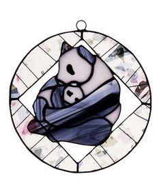 Another great find on #zulily! Panda Tiffany Suncatcher #zulilyfinds