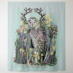 Yule Winter Solstice Barn Owl With Runes Tapestry diy christmas decorations ideas, celebrating christmas, christmas decorations Pagan Christmas, 1980s Christmas, Rustic Christmas, Christmas Holiday, Christmas Cards, Christmas Ornaments, Winter Solstice Traditions, Yule Traditions, Yule Crafts