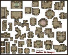 Heroic Maps - Modular Kit: Dungeon - Heroic Maps | Caverns & Tunnels | Dungeons | Tombs | Modular Kits | Wargame Vault