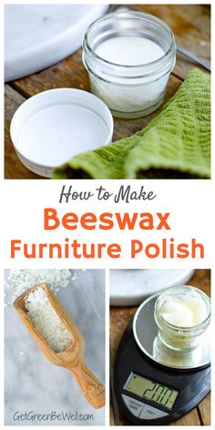 Homemade beeswax furniture polish is surprisingly easy to make with just 2 natural ingredients. Cleans, polishes, protects and restores shine naturally. Here's the recipe. #greencleaning #naturalcleaning #beeswax #cleaninghacks #cleaningtips Beeswax Furniture Polish, Beeswax Polish, Cleaners Homemade, Diy Cleaners, Natural Disinfectant, Sustainable Food, Natural Cleaners, Organic Living, Cleaning Recipes