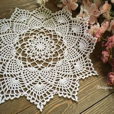 """This doily has 21 rounds. The finished size is 11"""" in diameter. size 10 cotton crochet thread, 100 yards 1.75 mm hook yarn..."""