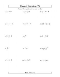 the decimals and fractions mixed with negatives a math worksheet from the order of operations. Black Bedroom Furniture Sets. Home Design Ideas