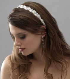 Amazon.com: Bridal Ribbon Headband Wedding Tiara Double Strand 735W: Clothing