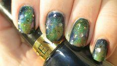 Galaxy Nails, Star Nails, Nebula Nails  Nail Polish=Nail Art!