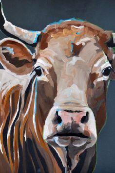 Karen de Bondt Cow Paintings On Canvas, Farm Paintings, Animal Paintings, Animal Drawings, Canvas Art, Art Drawings, Cow Drawing, Cow Pictures, Farm Art