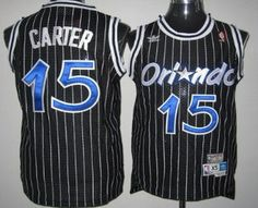 7fbecac27b0 Orlando Magic #15 Vince Carter Black Hardwood Classics Soul Swingman  Throwback Jersey Throwback Nba Jerseys
