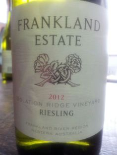 #FranklandEstate Isolation Ridge #Riesling 2012.  The Isolation Ridge vineyard sits high on an ironstone ridge with ancient duplex soils of gravel and loam over a clay sub-soil.  (#RNAWA13)