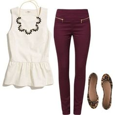 - Fashiontina -: Como combinar una blusa peplum blanca.