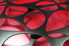 black 3d voronoi organic structure on colored background