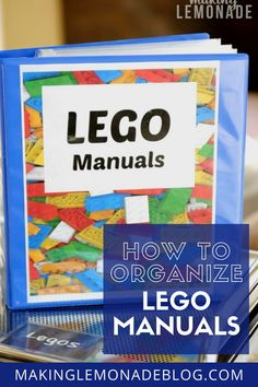 How to Organize Lego Manuals - FINALLY a great way to organize LEGO manuals! Love this organization tip. The Effective Pictures We - Free Lego, Blogger Home, Lego Trains, Lego Mecha, Get Up And Walk, Lego Room, Lego Birthday Party, Life Is An Adventure, Organization Hacks