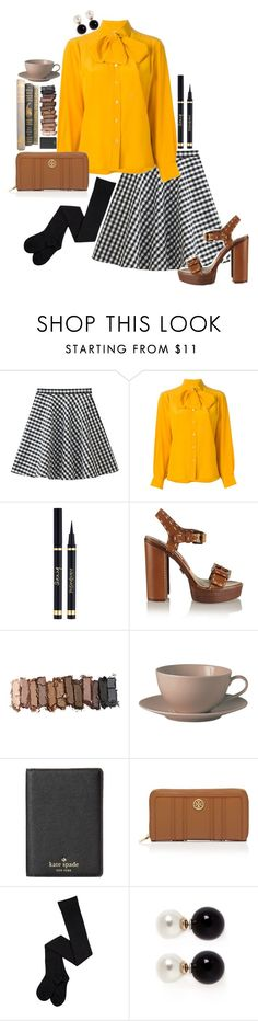 """""""I Want It All"""" by claquesous ❤ liked on Polyvore featuring CÉLINE, Michael Kors, Urban Decay, Royal Doulton, Kate Spade, Tory Burch and Kenneth Jay Lane"""
