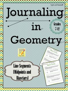 Incorporating math journals into middle and high school geometry or integrated math classes.  Includes scaffolded note sheets and teacher answer keys. ($) #mathjournals #geometry